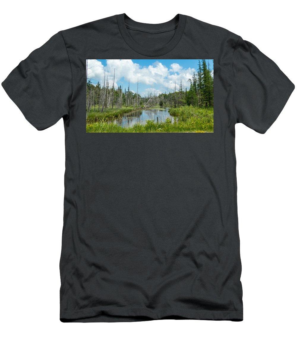 Landscape Men's T-Shirt (Athletic Fit) featuring the photograph Marsh Scene by Richard Kitchen