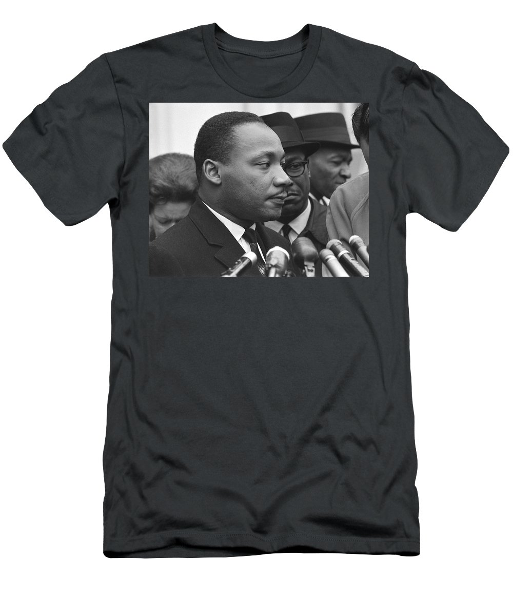 1950s Men's T-Shirt (Athletic Fit) featuring the photograph Martin Luther King, Jr by Warren K. Leffler