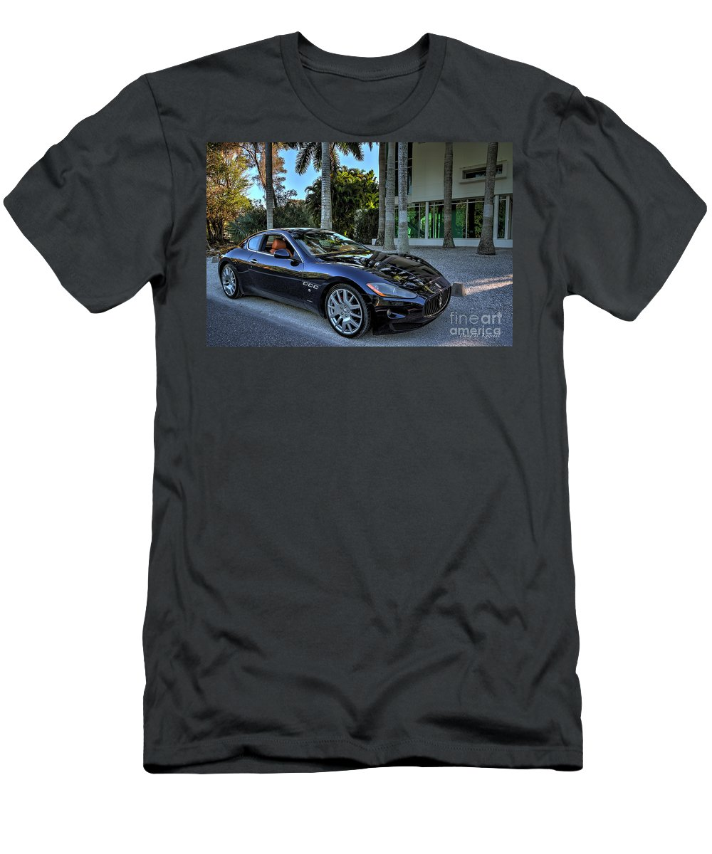 Maserati Men's T-Shirt (Athletic Fit) featuring the photograph Maserati by David B Kawchak Custom Classic Photography