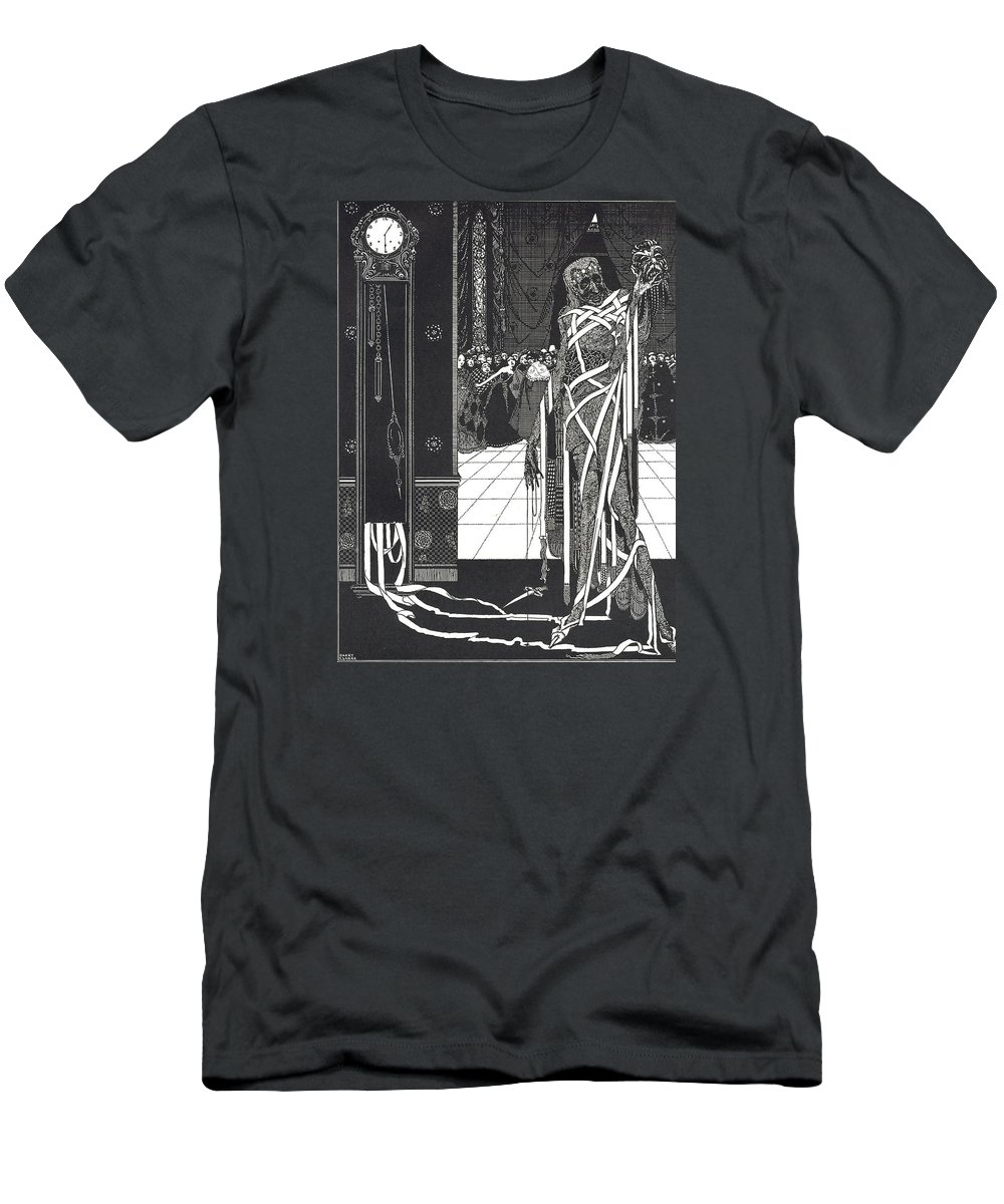 Harry Men's T-Shirt (Athletic Fit) featuring the drawing Masque Of The Red Death by Harry Clarke