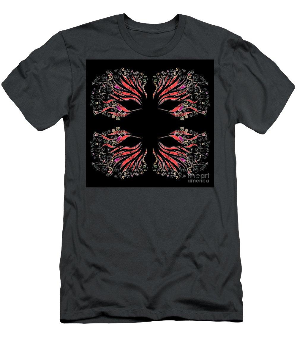 Masquerade Men's T-Shirt (Athletic Fit) featuring the drawing Masquerade by Barbara Moignard