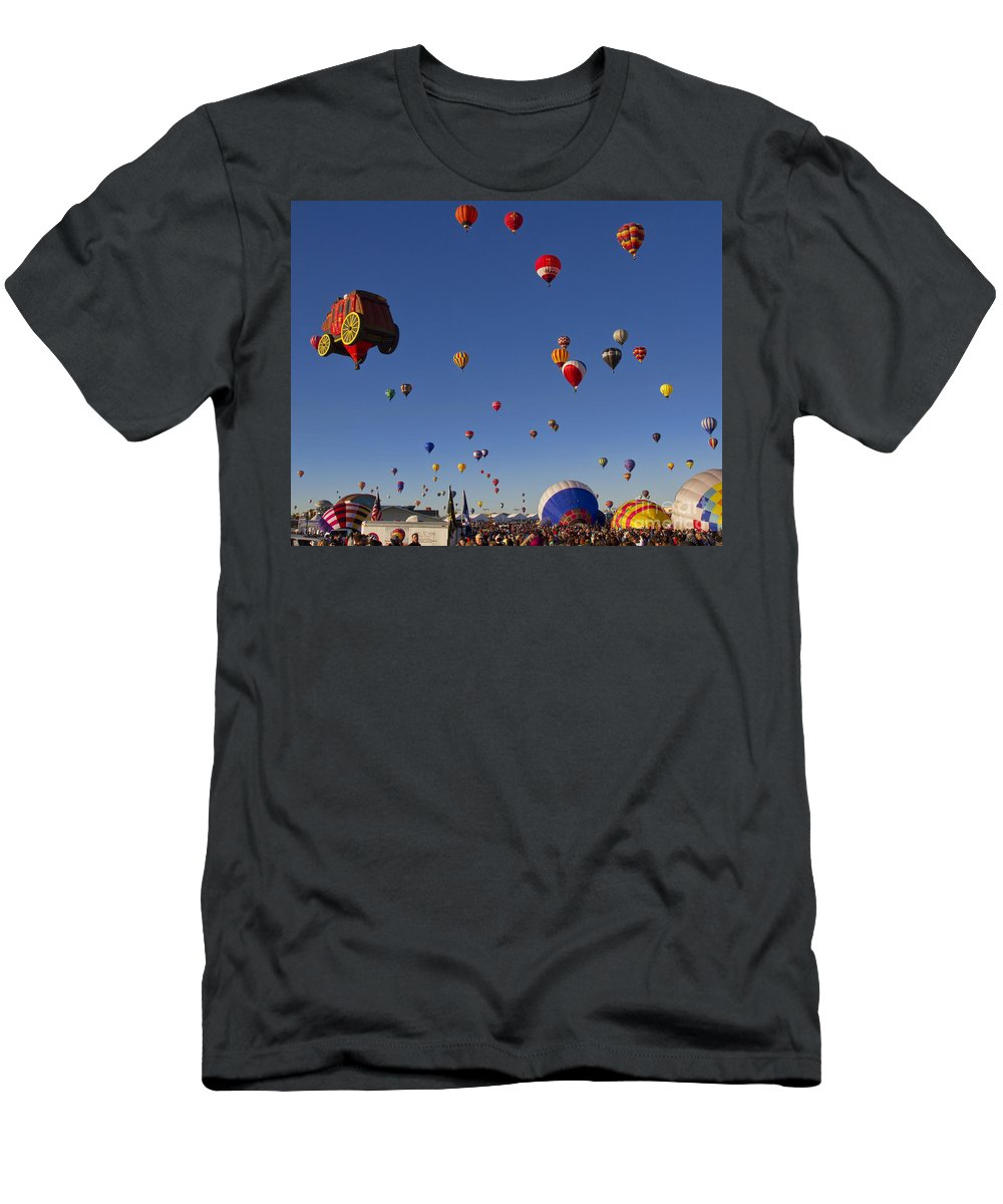 Mass Ascension Men's T-Shirt (Athletic Fit) featuring the photograph Mass Ascension by Gary Holmes