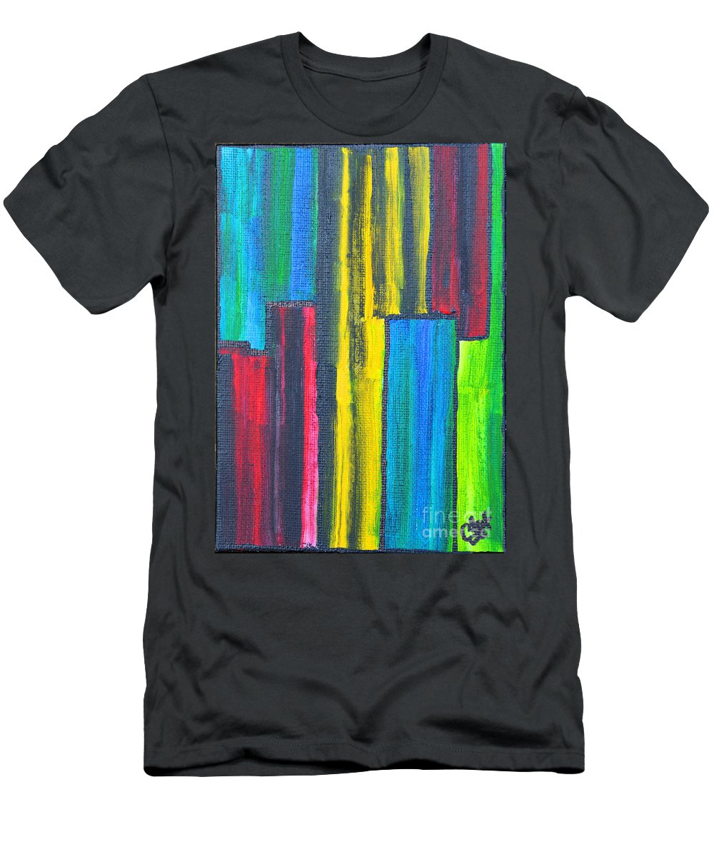 Mathematical Men's T-Shirt (Athletic Fit) featuring the painting Mathematical Fractions by Christine Dekkers