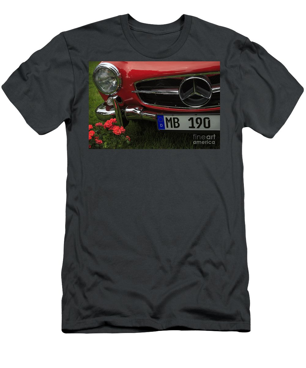 1961 Mercedes Benz 190 Sl Men's T-Shirt (Athletic Fit) featuring the photograph Mb 190 by Dennis Hedberg
