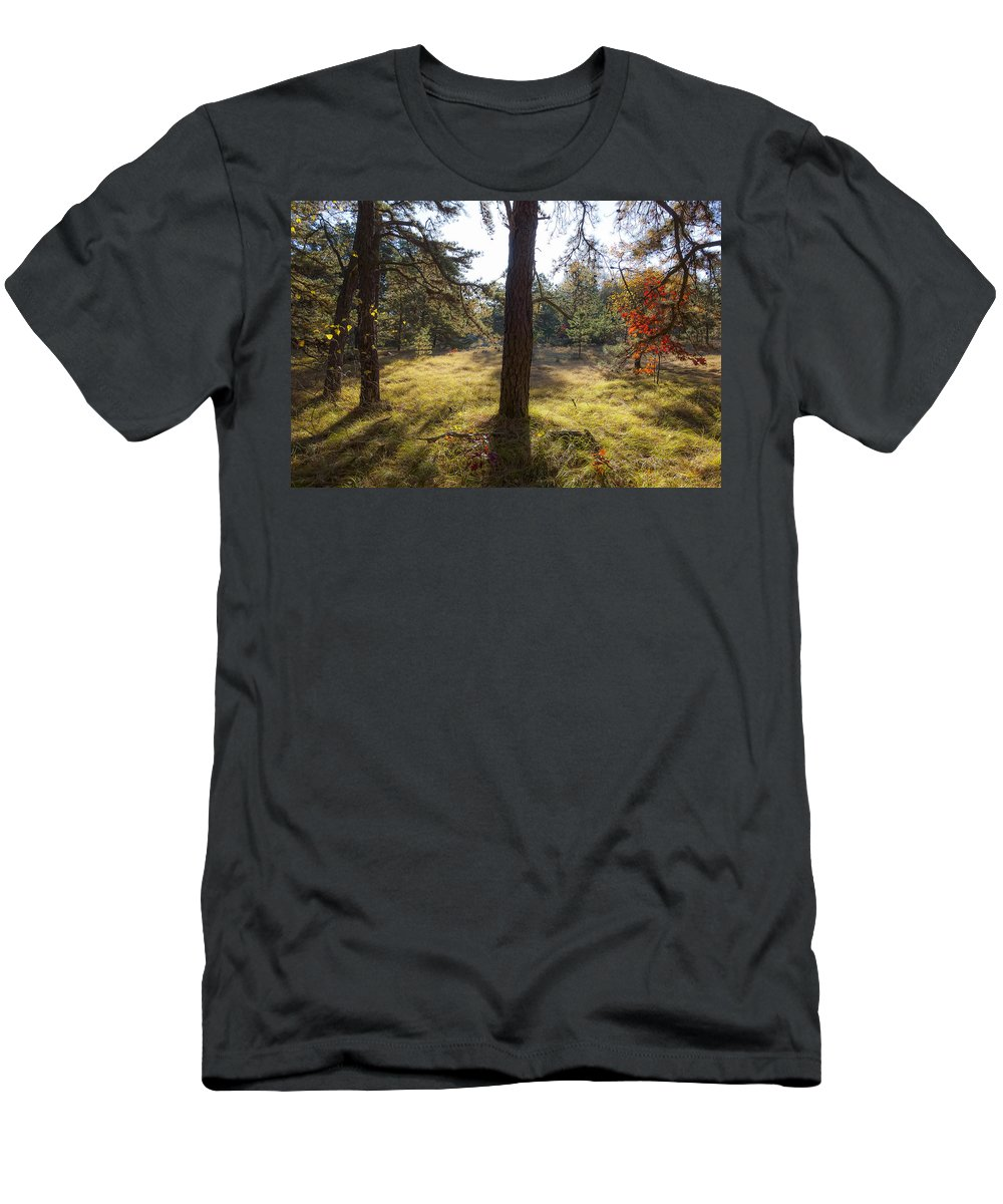 Crane Reservation Men's T-Shirt (Athletic Fit) featuring the photograph Meadow In The Dunes by David Stone