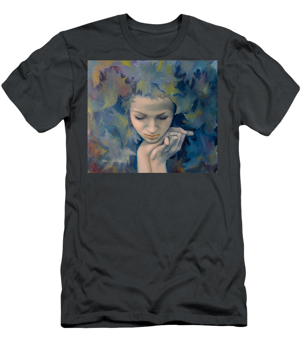 Art Men's T-Shirt (Athletic Fit) featuring the painting Meet The Fall by Dorina Costras