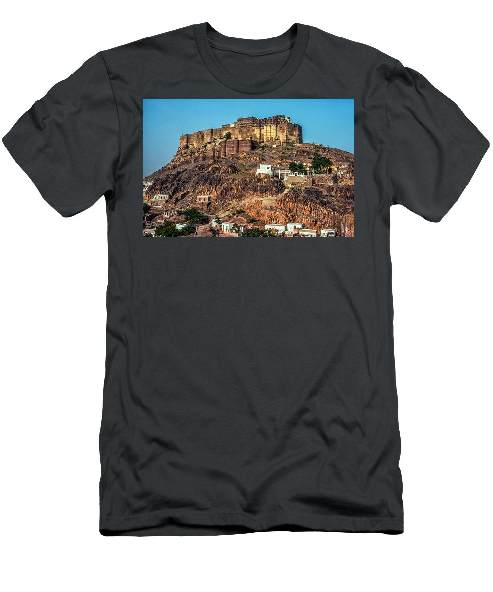 Mehrangarh Fort Men's T-Shirt (Athletic Fit) featuring the photograph Mehrangarh Fort by Steve Harrington