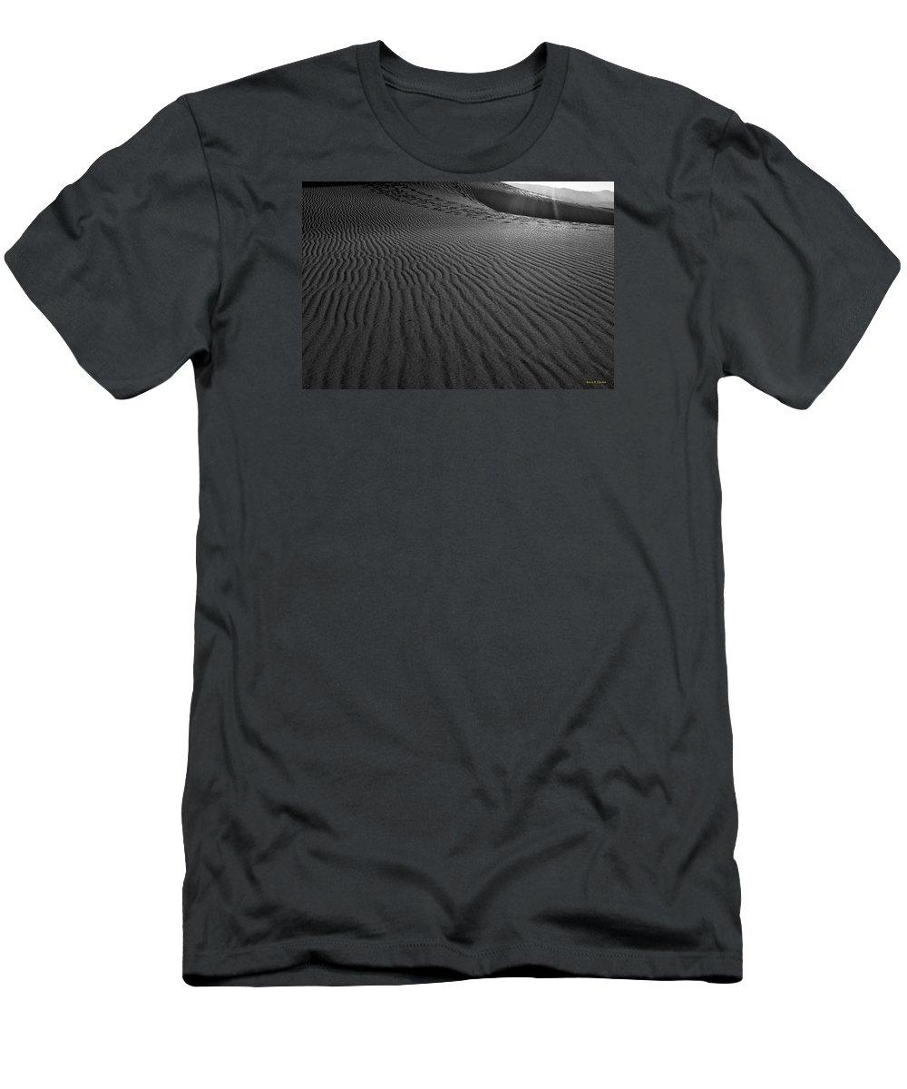 Mesquite Sand Dunes Men's T-Shirt (Athletic Fit) featuring the photograph Mesquite Sand Dunes by Angela Stanton