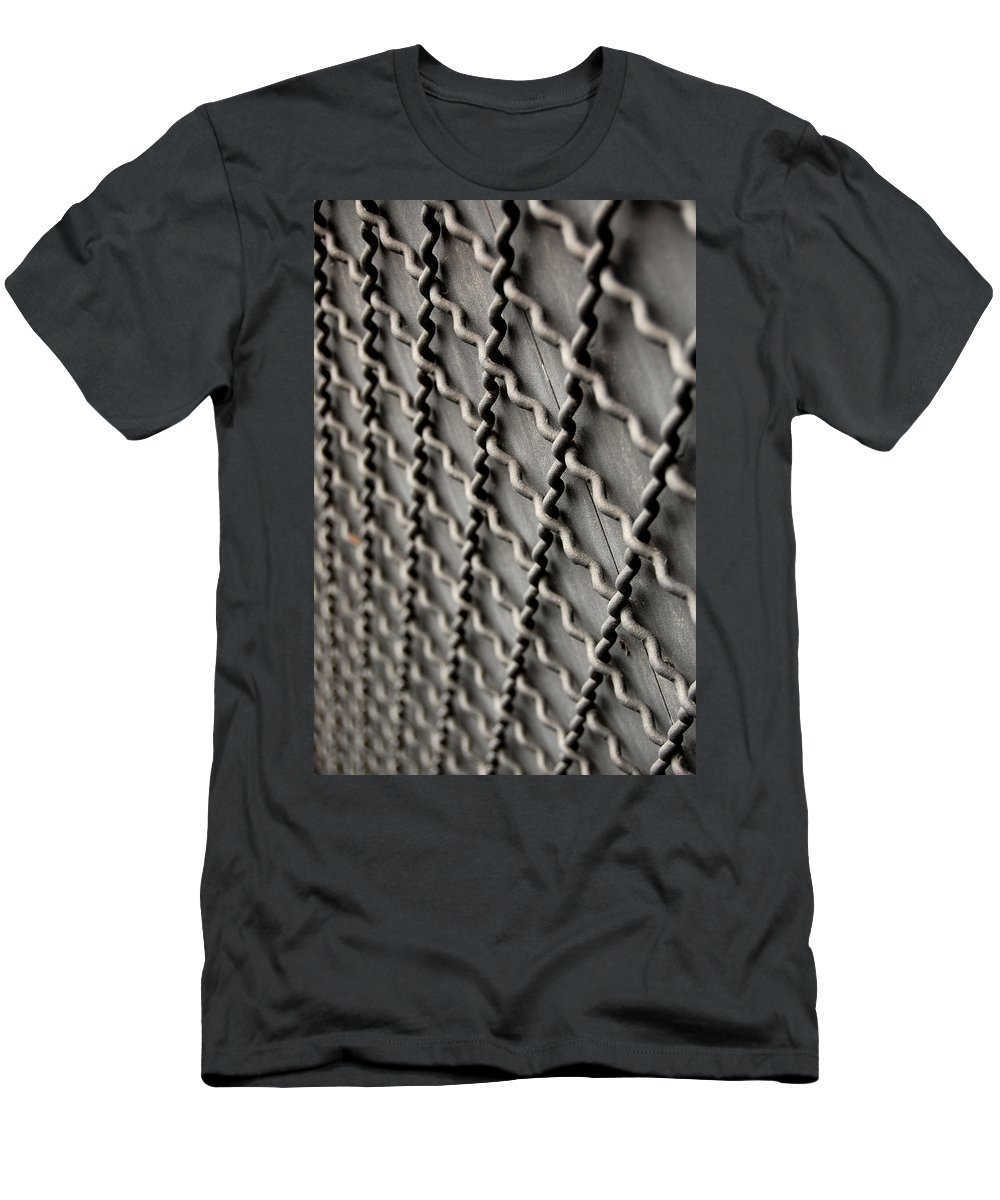 Metal Men's T-Shirt (Athletic Fit) featuring the photograph Metal Texture Forms by Gina Dsgn