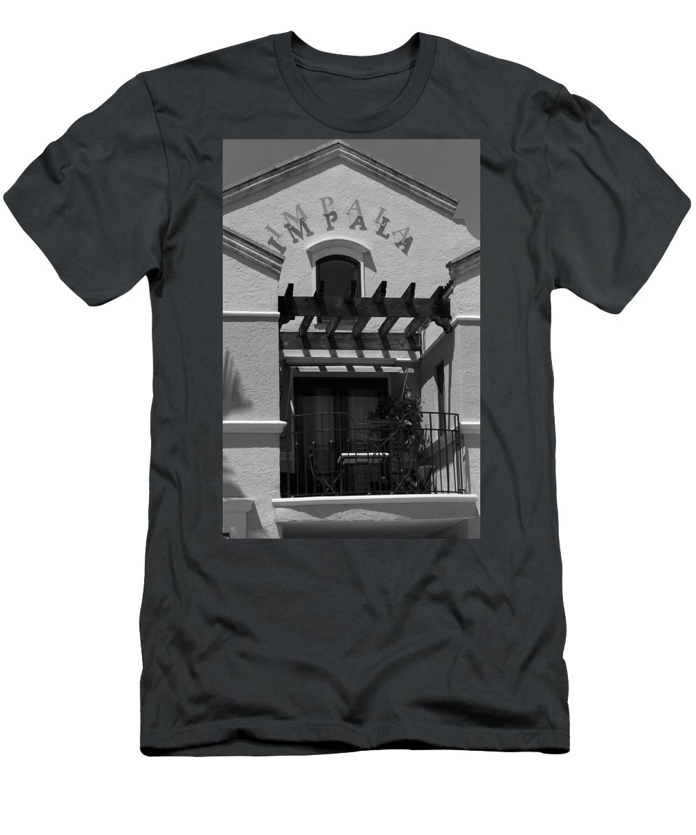 America Men's T-Shirt (Athletic Fit) featuring the photograph Miami Beach - Art Deco 19 by Frank Romeo