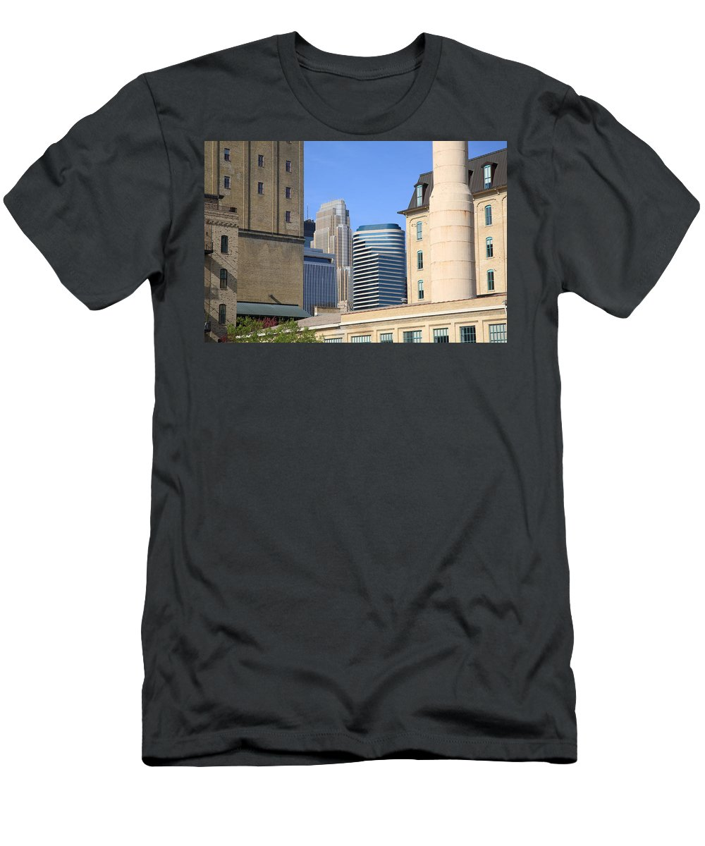 America Men's T-Shirt (Athletic Fit) featuring the photograph Minneapolis by Frank Romeo