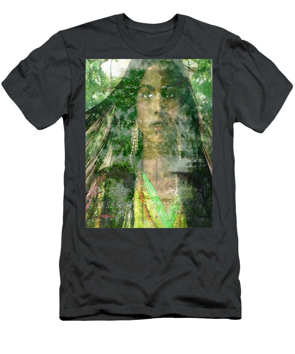 American Indian Men's T-Shirt (Athletic Fit) featuring the digital art Mistress Of The Wind by Seth Weaver