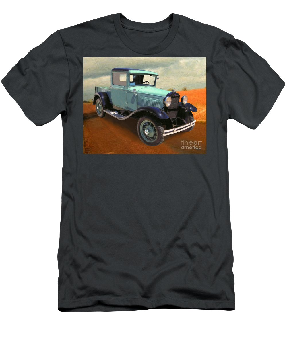 Drawing Men's T-Shirt (Athletic Fit) featuring the painting Model T by Charles Thayer