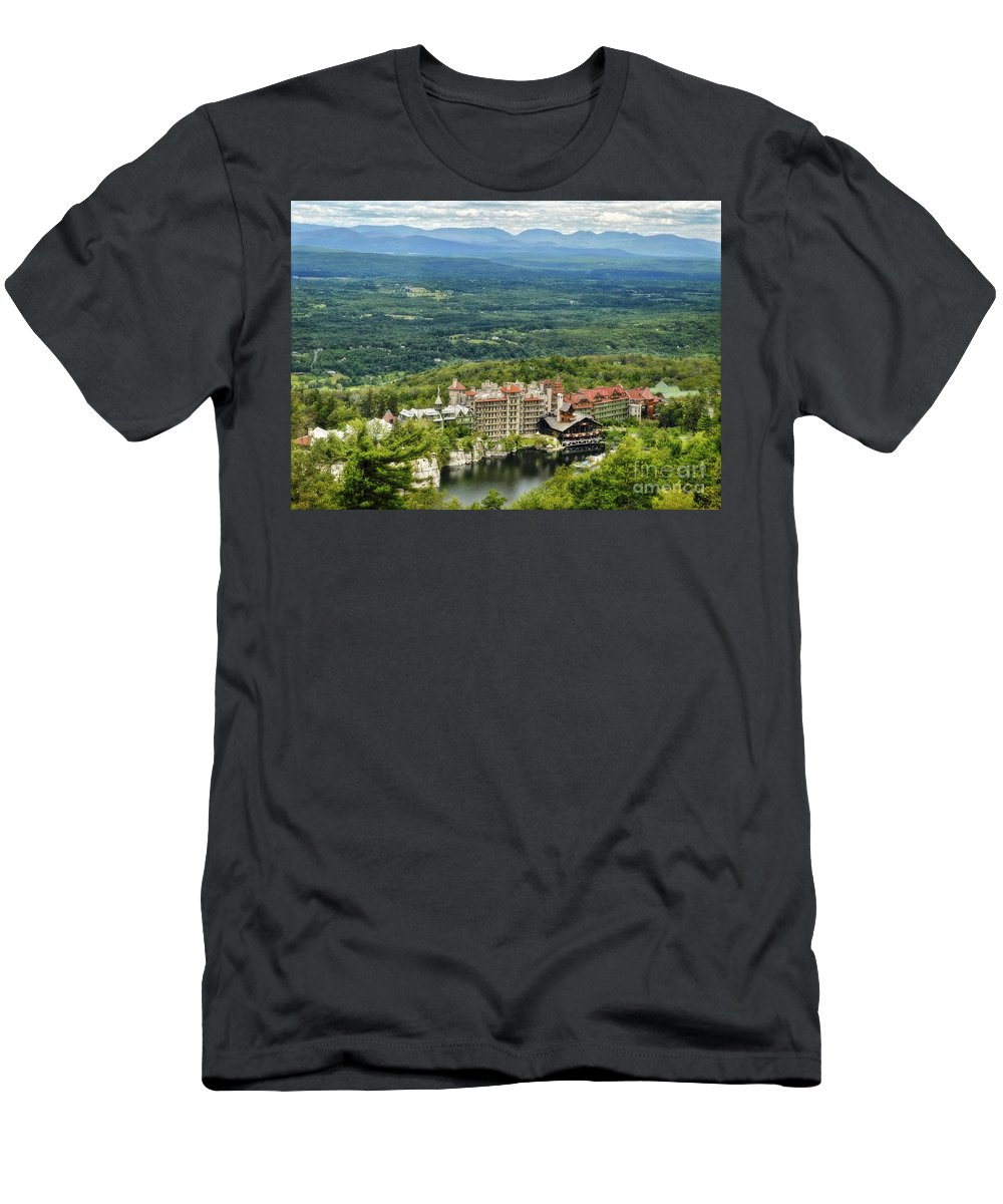Mohonk Men's T-Shirt (Athletic Fit) featuring the photograph Mohonk by Claudia Kuhn