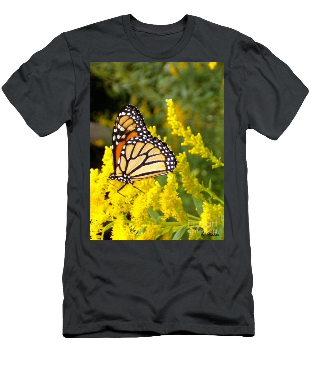 Monarch Men's T-Shirt (Athletic Fit) featuring the photograph Monarch by Sara Raber