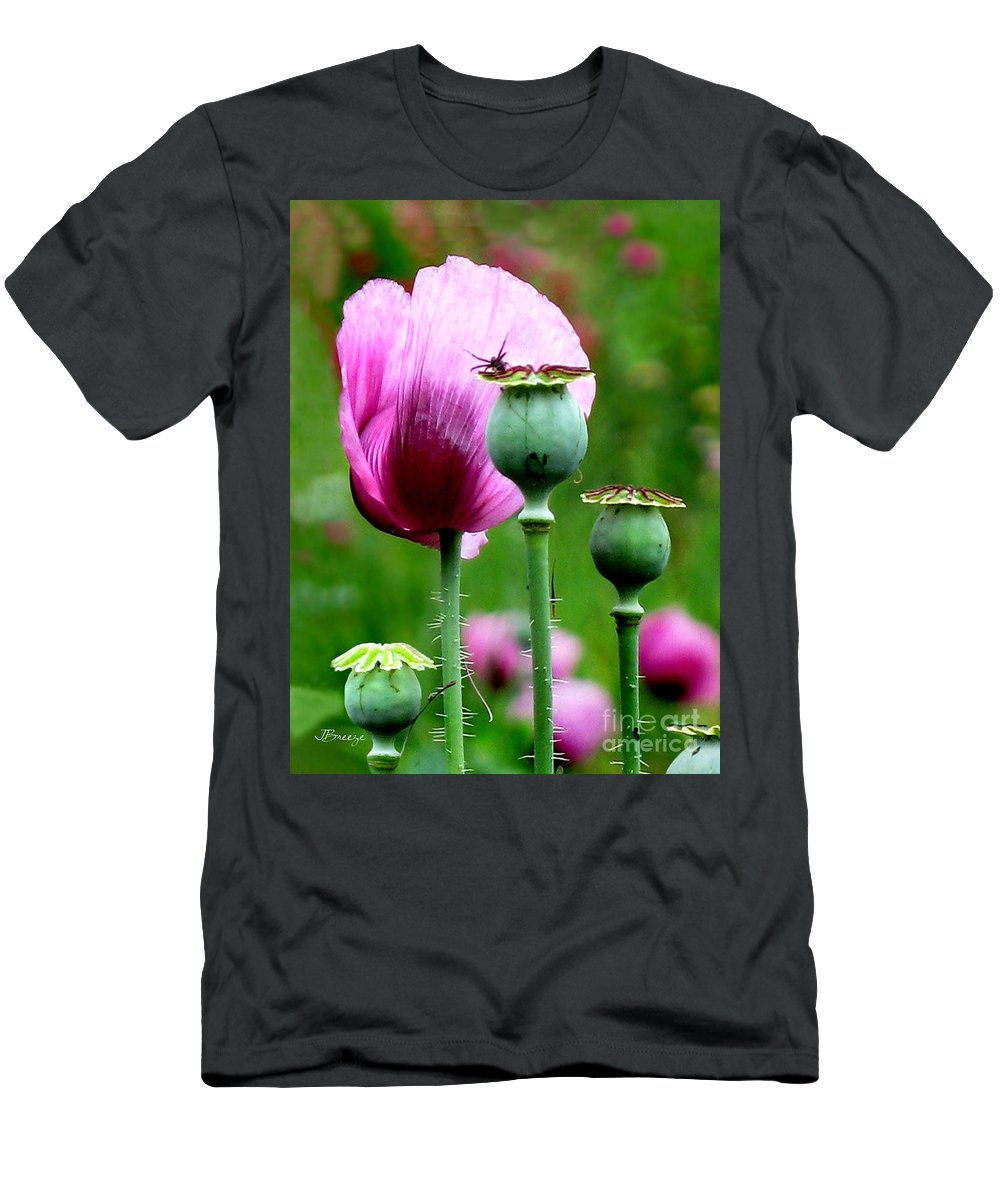 Flower Men's T-Shirt (Athletic Fit) featuring the photograph Monet's Garden-giverny by Jennie Breeze