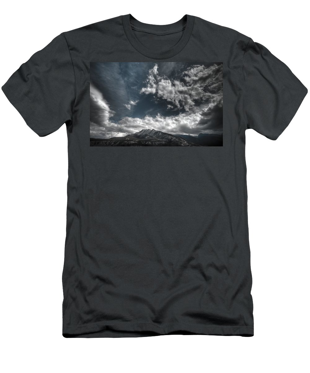 Sky Men's T-Shirt (Athletic Fit) featuring the photograph Moody Blue by Wayne Sherriff