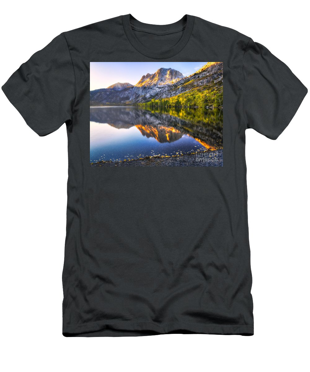 June Lake Men's T-Shirt (Athletic Fit) featuring the photograph Morning Glow by Anthony Bonafede
