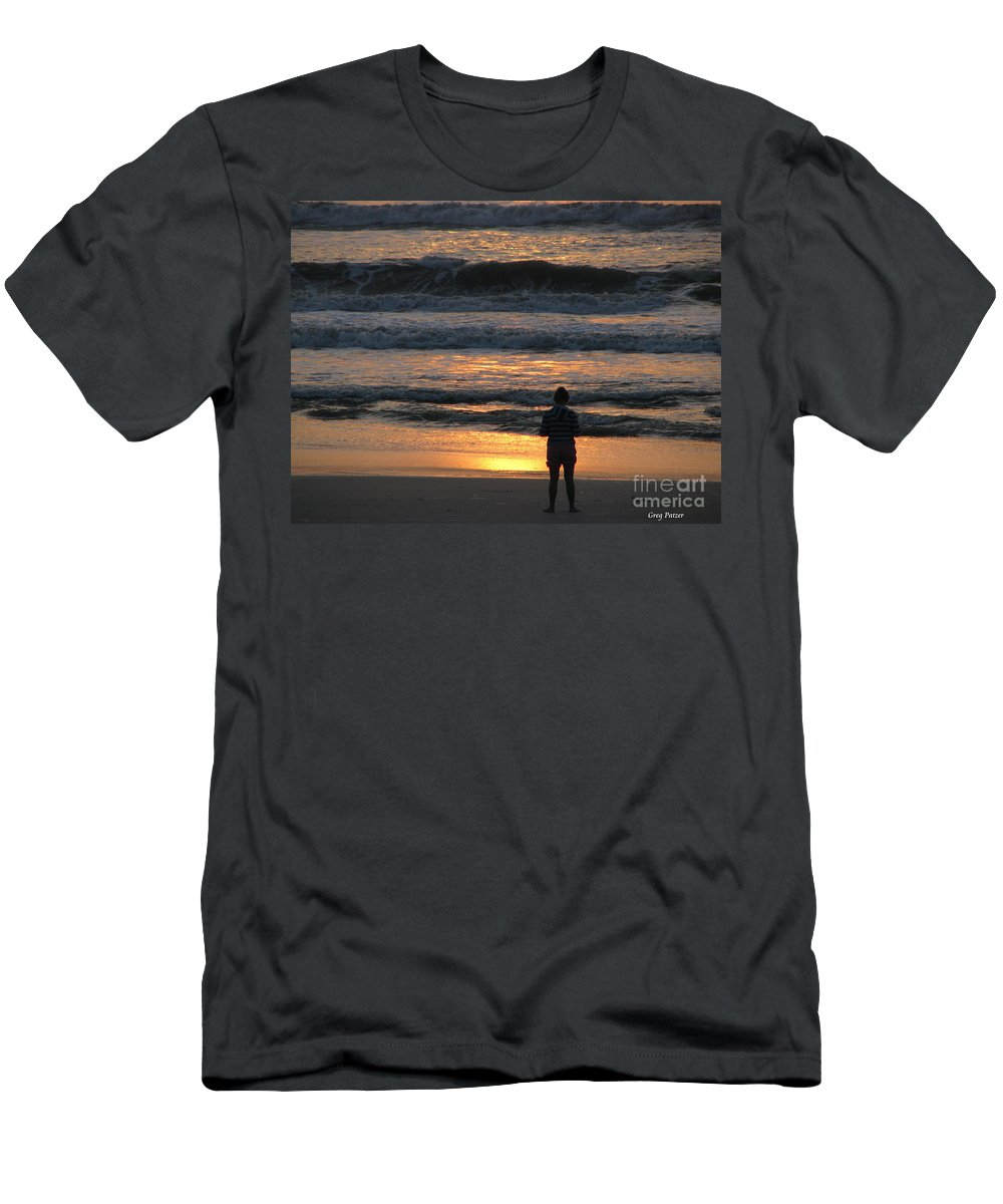 Patzer Men's T-Shirt (Athletic Fit) featuring the photograph Morning Has Broken by Greg Patzer