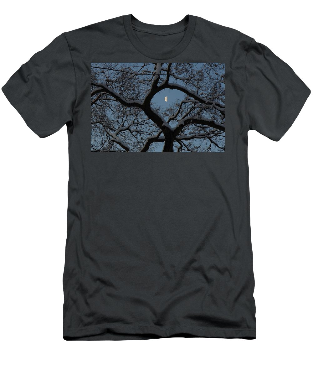Tower Grove Men's T-Shirt (Athletic Fit) featuring the photograph Morning Twilight by Scott Rackers