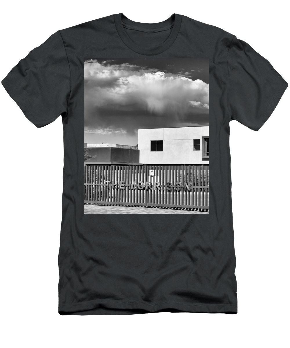 Morrison Men's T-Shirt (Athletic Fit) featuring the photograph Morrison Cloud Bw Palm Springs by William Dey