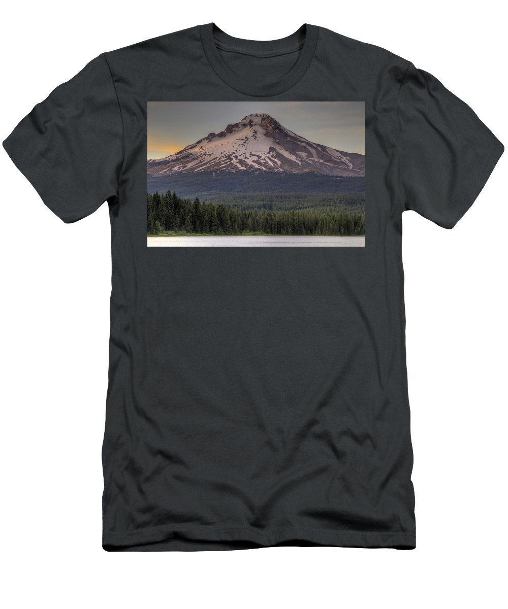 Mount Men's T-Shirt (Athletic Fit) featuring the photograph Mount Hood At Trillium Lake by David Gn
