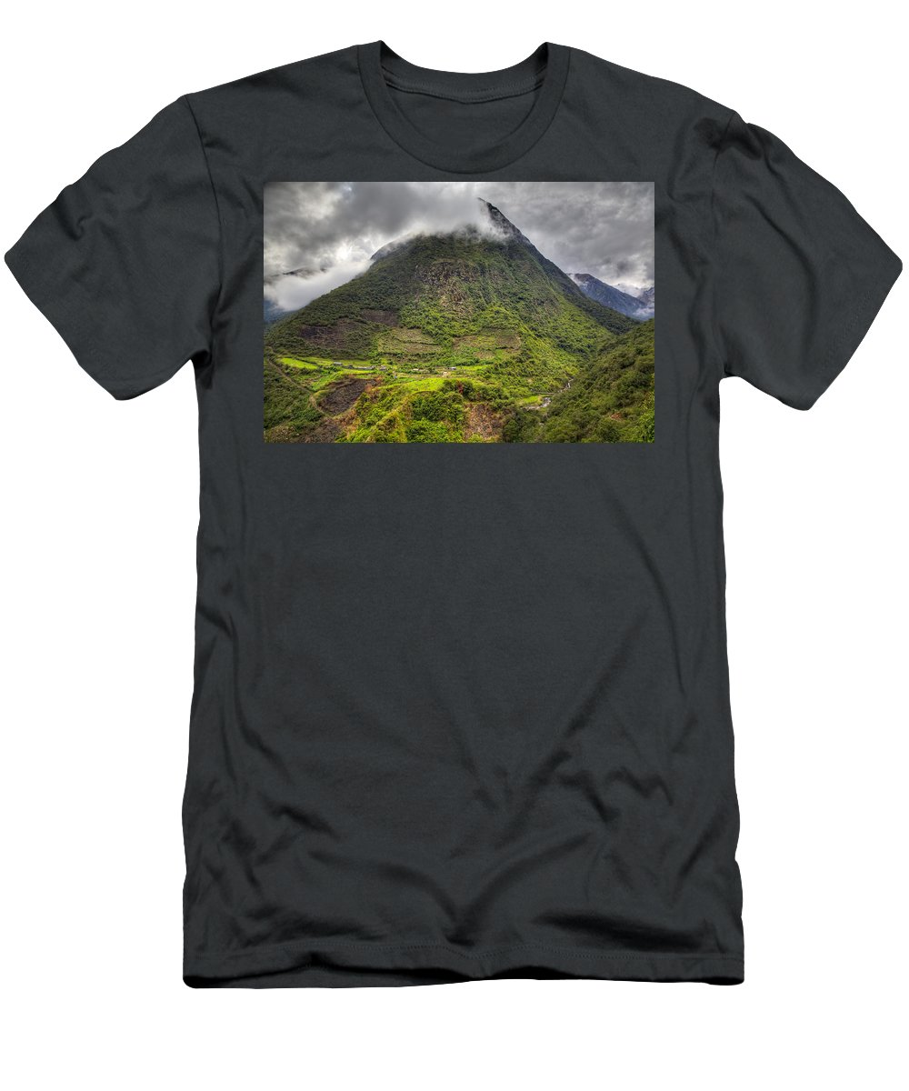 Mountain Men's T-Shirt (Athletic Fit) featuring the photograph Mountain by Alexey Stiop