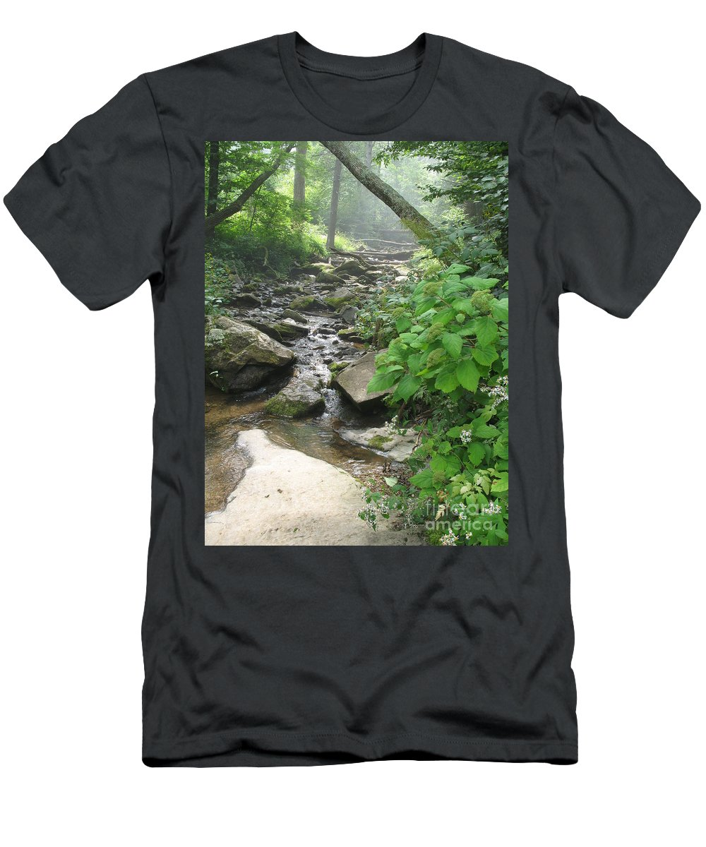 Brook Men's T-Shirt (Athletic Fit) featuring the photograph Mountain Brook by Christiane Schulze Art And Photography