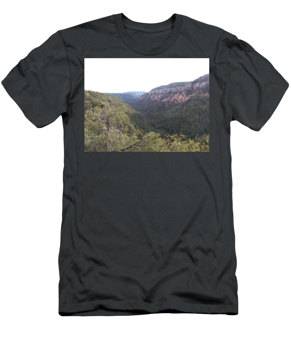 Arizona Men's T-Shirt (Athletic Fit) featuring the photograph Mountain Road by Two Bridges North