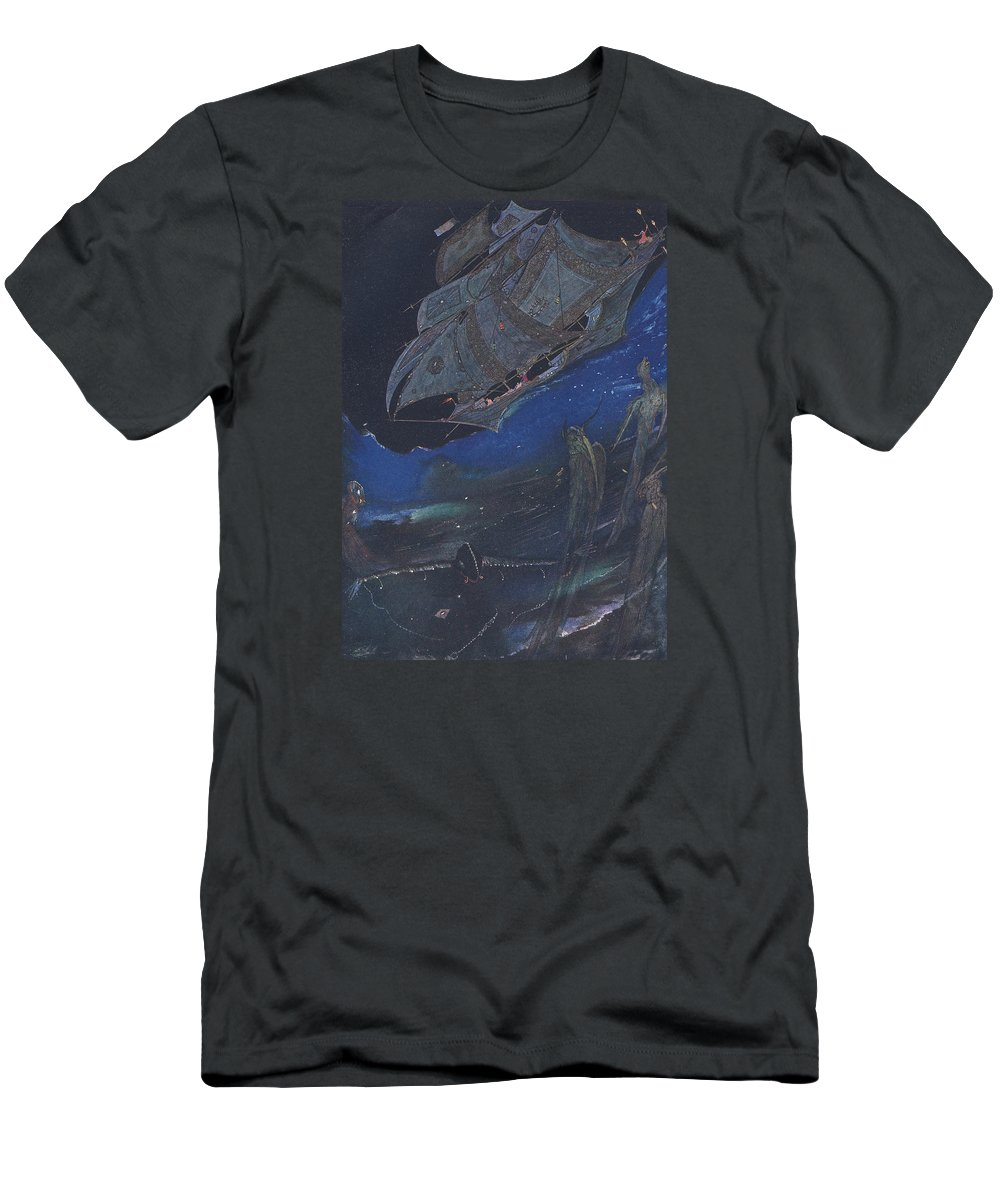 Harry Men's T-Shirt (Athletic Fit) featuring the painting Ms In A Bottle by Harry Clarke