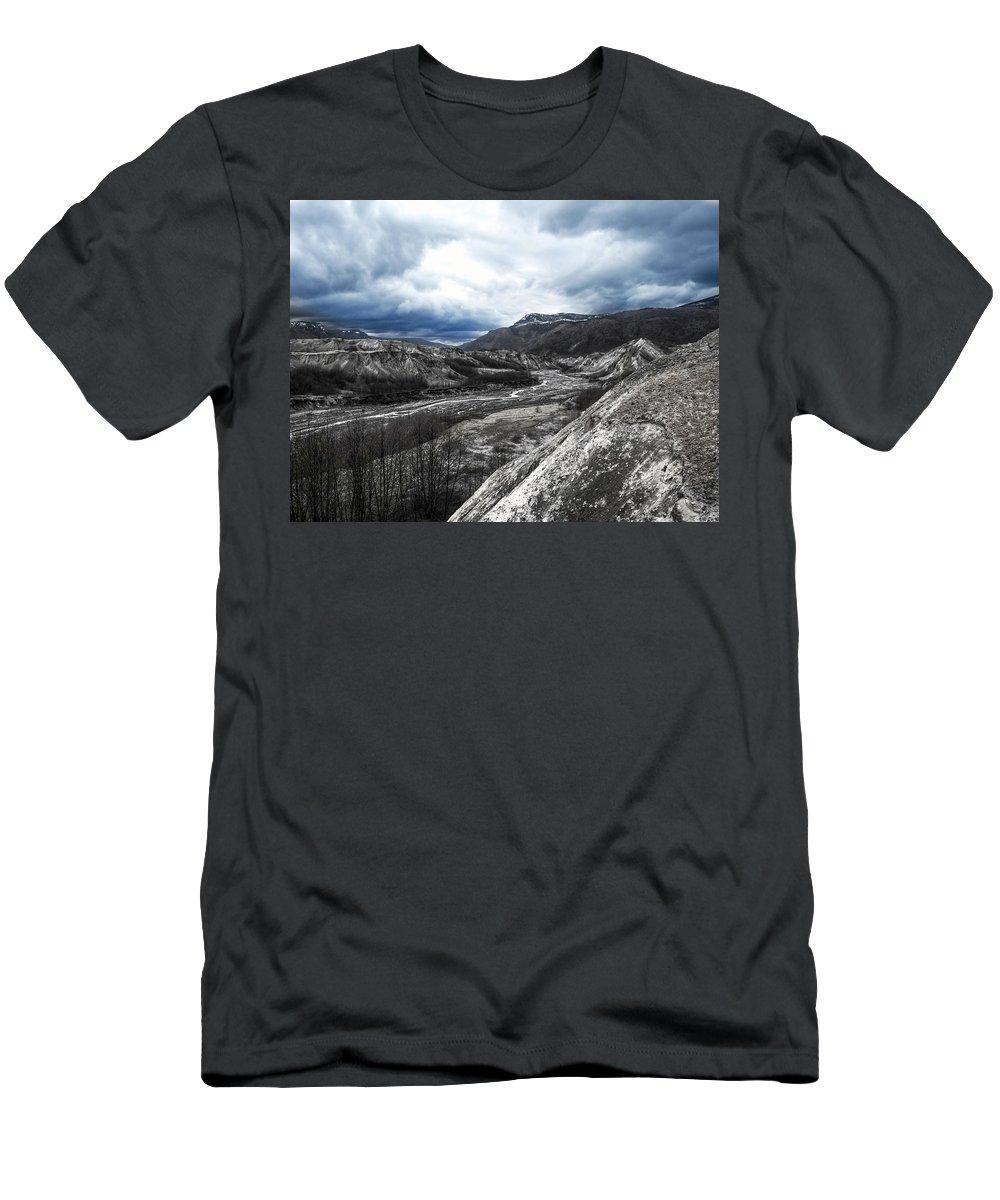 Mount Men's T-Shirt (Athletic Fit) featuring the photograph Mt. St. Helen's National Park 3 by Anna Burdette
