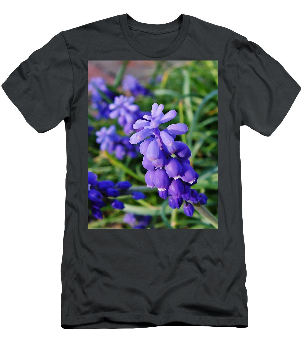 Muscari Men's T-Shirt (Athletic Fit) featuring the photograph Muscari by Chris Berry