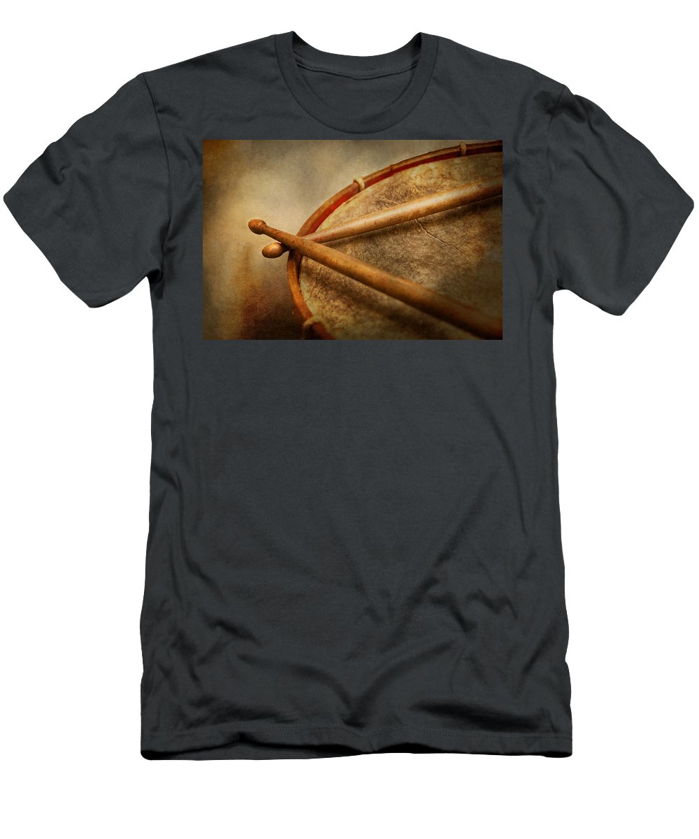 Hdr Men's T-Shirt (Athletic Fit) featuring the photograph Music - Drum - Cadence by Mike Savad