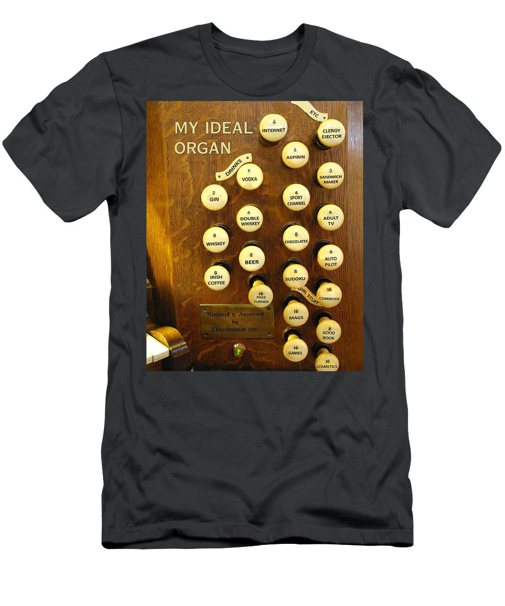 Organ Men's T-Shirt (Athletic Fit) featuring the photograph My Ideal Organ by Jenny Setchell