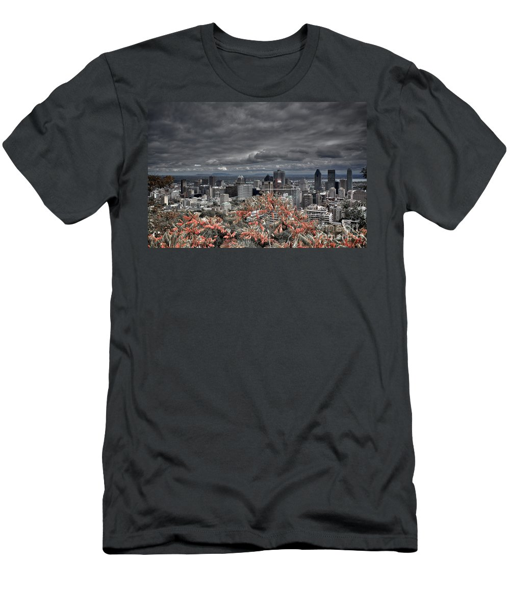 Montreal Men's T-Shirt (Athletic Fit) featuring the photograph My Montreal's Colors by Donato Iannuzzi