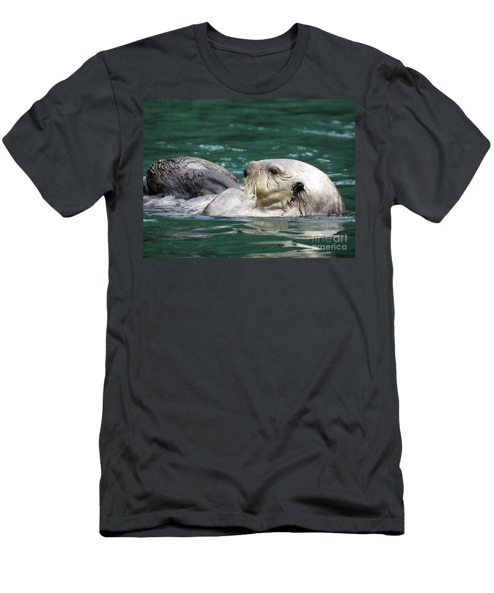Otter Men's T-Shirt (Athletic Fit) featuring the photograph My Otter II by Stacey May