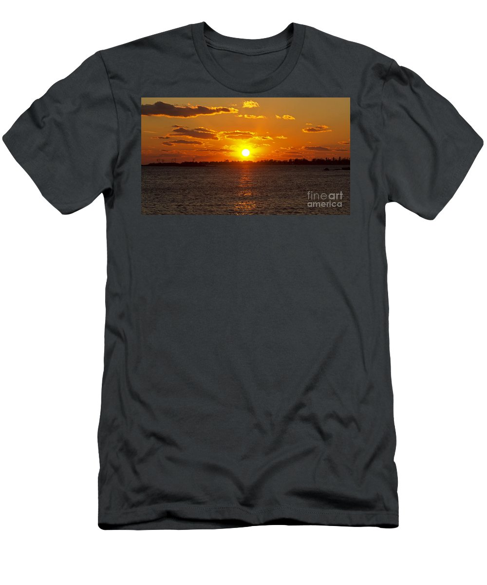 Sun Men's T-Shirt (Athletic Fit) featuring the photograph Mystic Sunset by Joe Geraci