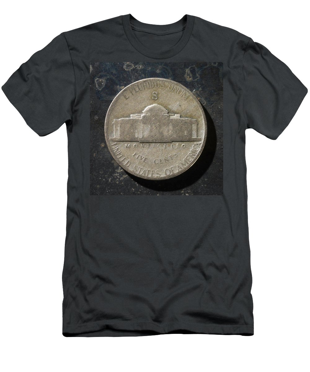 Americana Men's T-Shirt (Athletic Fit) featuring the photograph N 1943 A T by Robert Mollett