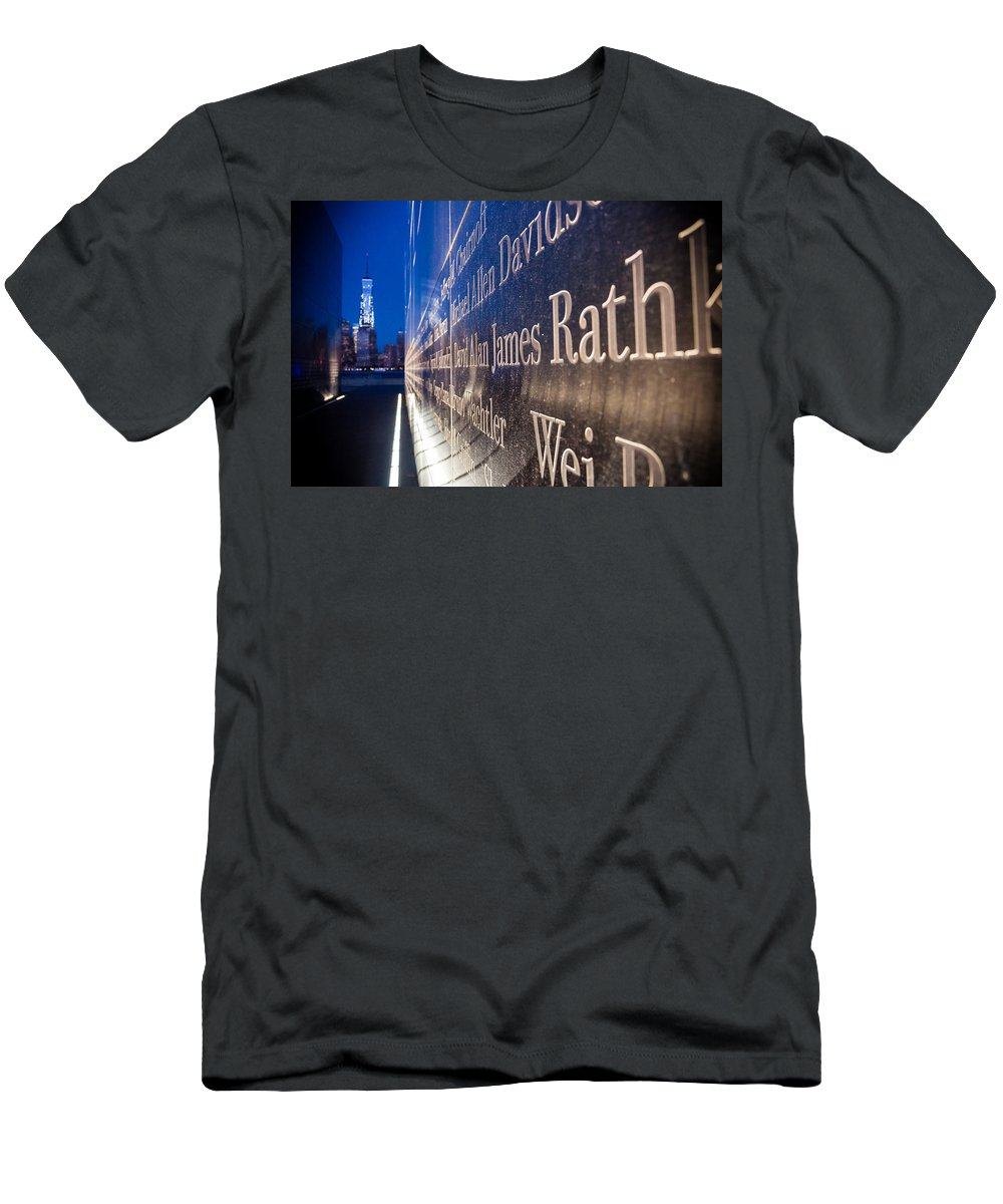 New Jersey Men's T-Shirt (Athletic Fit) featuring the photograph Names by Kristopher Schoenleber