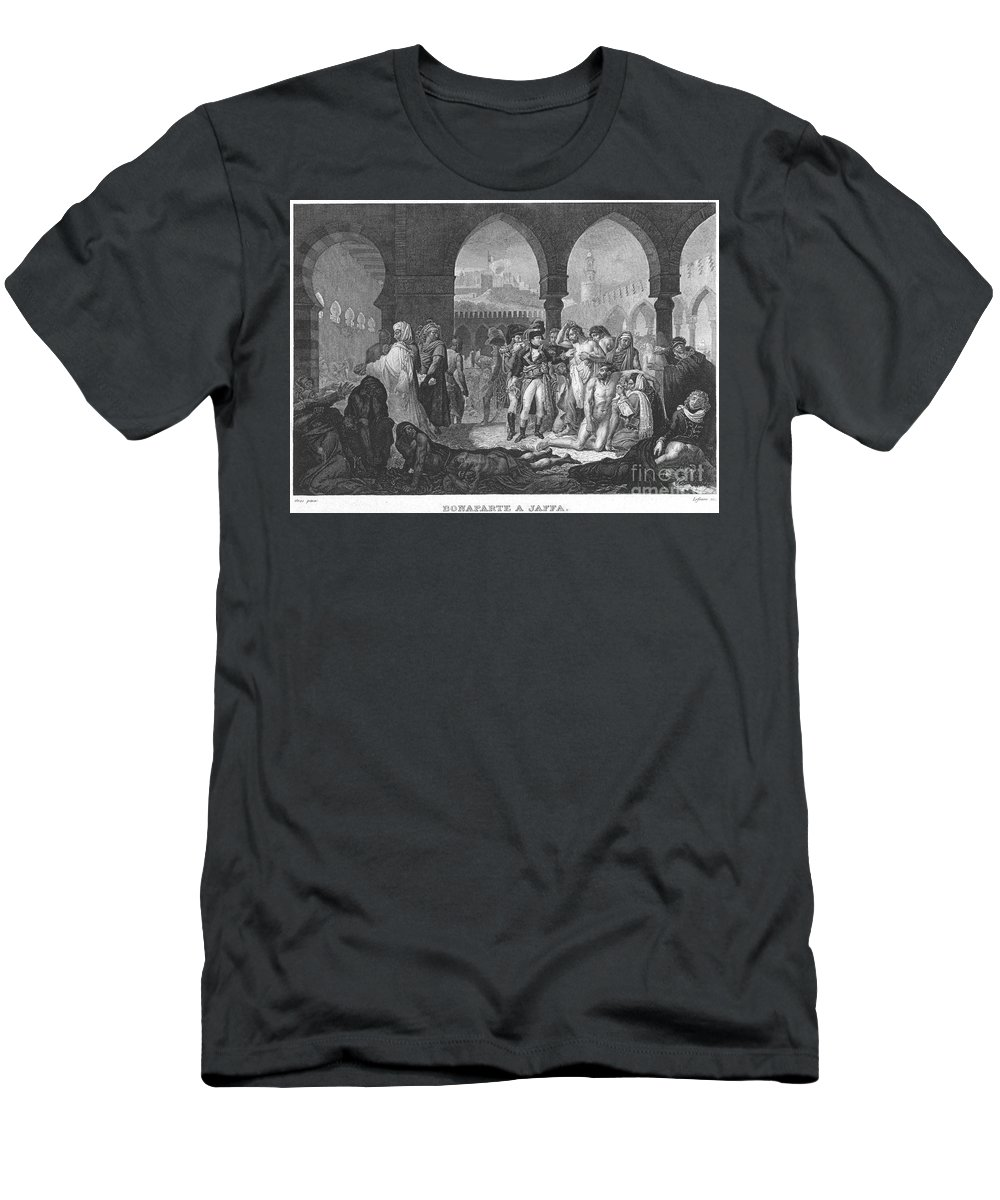 1799 Men's T-Shirt (Athletic Fit) featuring the photograph Napoleon At Jaffa, 1799 by Granger