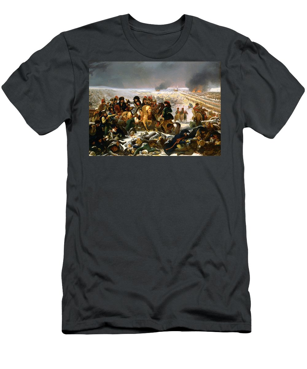 Painting Men's T-Shirt (Athletic Fit) featuring the painting Napoleon On The Battlefield Of Eylau by Mountain Dreams