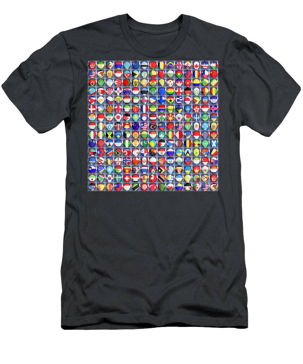United Men's T-Shirt (Athletic Fit) featuring the photograph Nations United by Antony McAulay