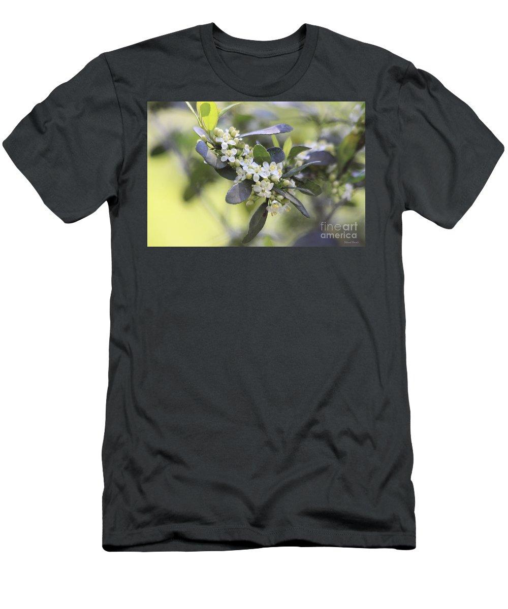 Flower Men's T-Shirt (Athletic Fit) featuring the photograph Nature Path Flower by Deborah Benoit