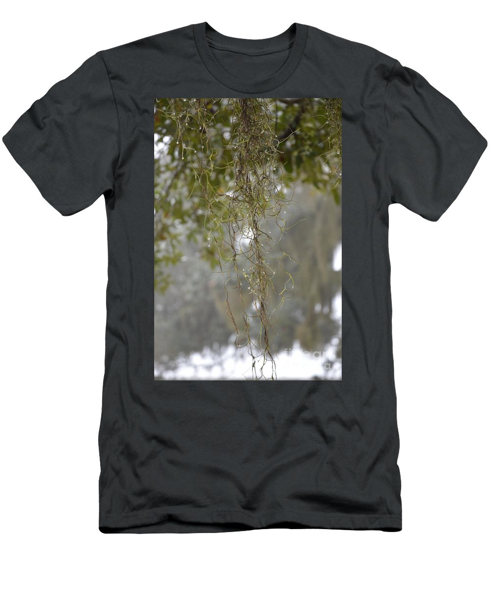 Dew Drops Men's T-Shirt (Athletic Fit) featuring the photograph Nature's Diamonds by Xyldia Grace