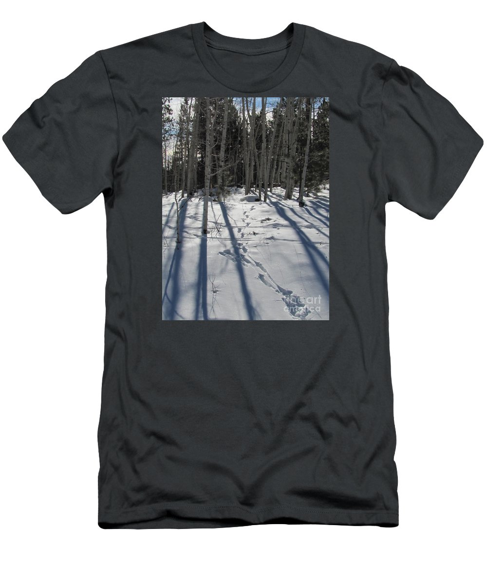 Winter Men's T-Shirt (Athletic Fit) featuring the photograph Nature's Path by Sheryl Young