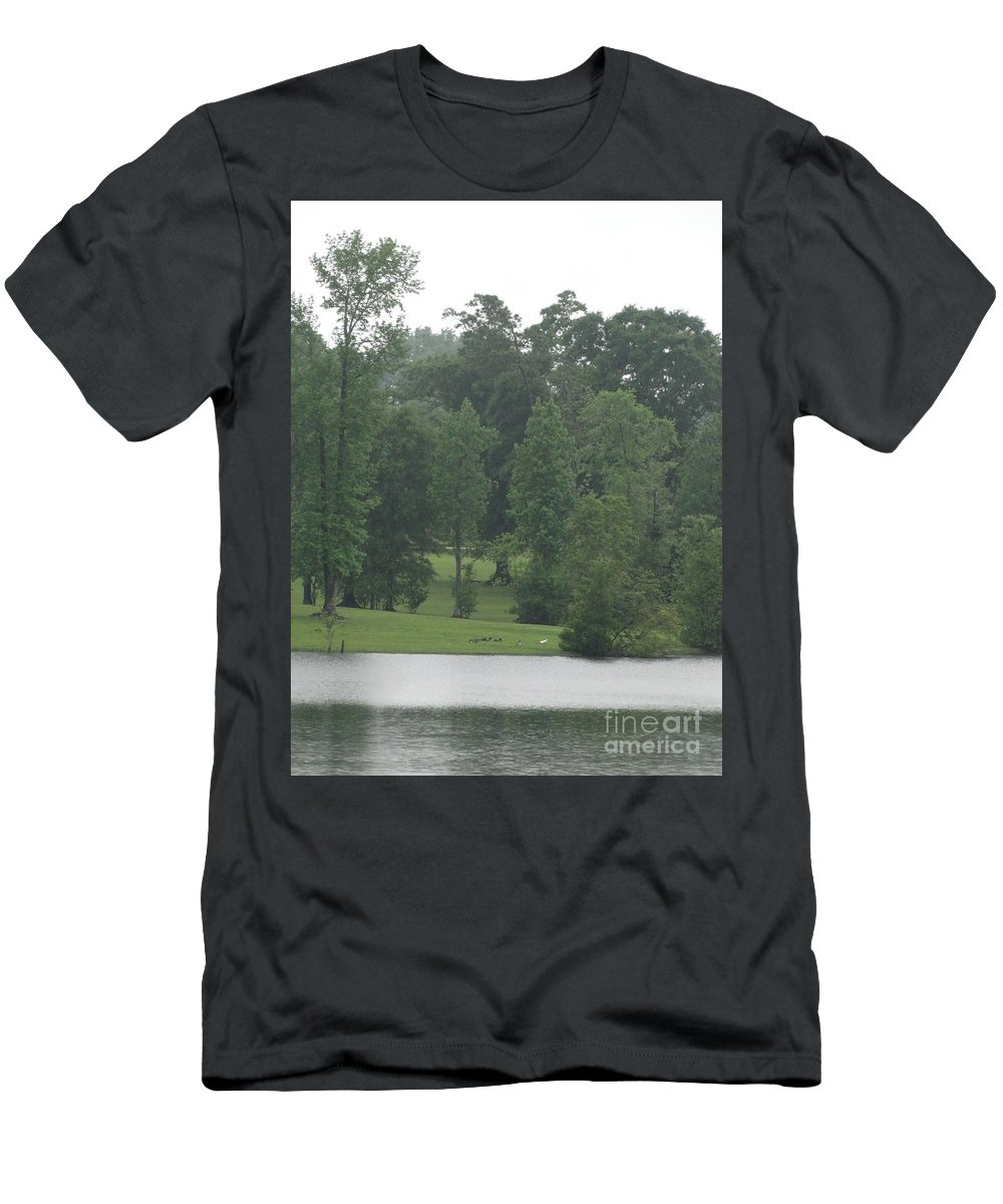 Drama Men's T-Shirt (Athletic Fit) featuring the photograph Nature's Serenity by Joseph Baril