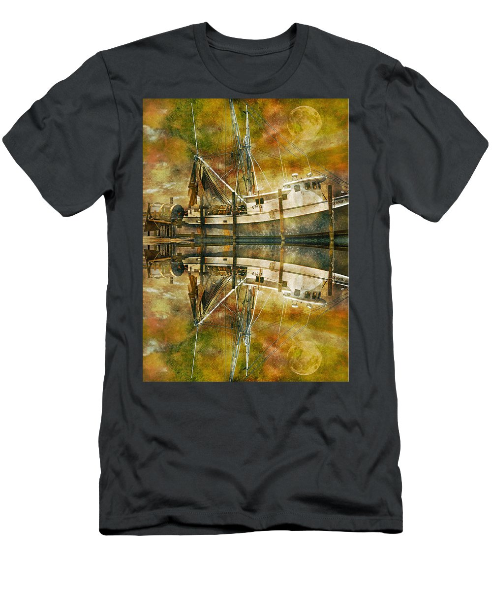 Topsail Men's T-Shirt (Athletic Fit) featuring the photograph Nautical Timepiece by Betsy Knapp
