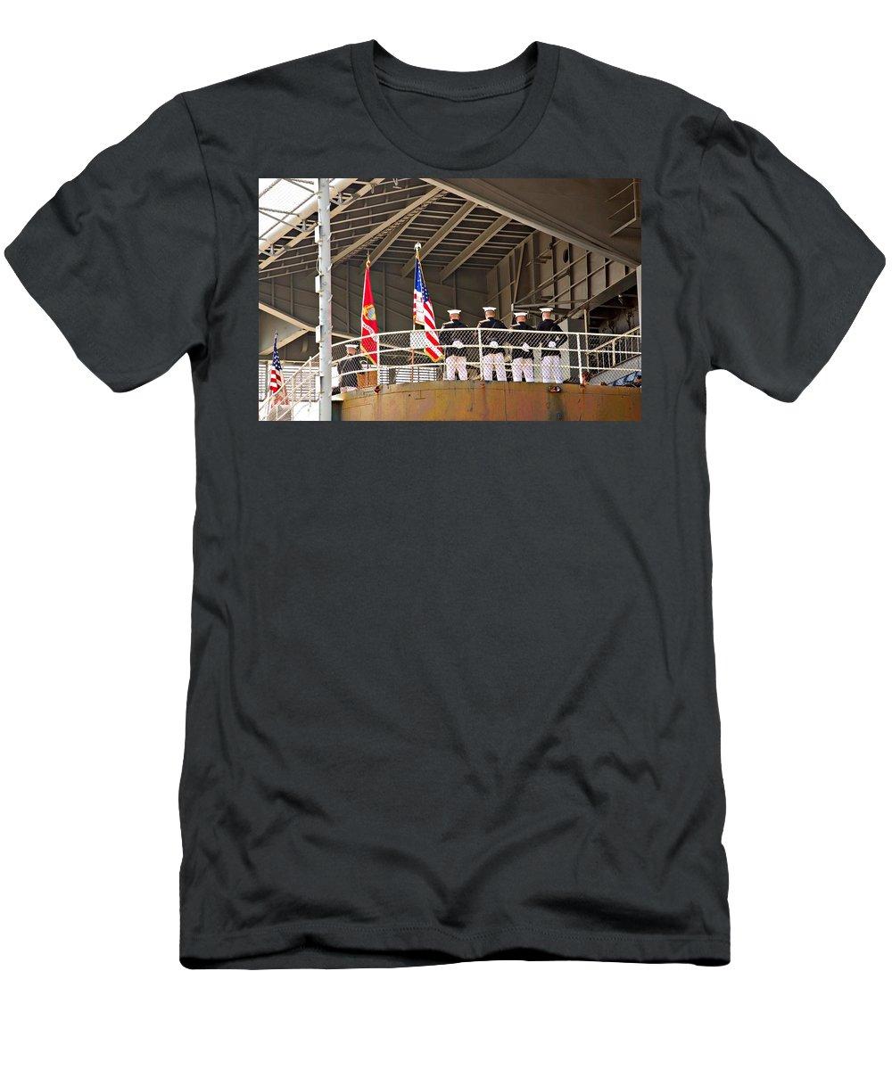 Navy Men's T-Shirt (Athletic Fit) featuring the photograph Navy Men by Bob Pardue