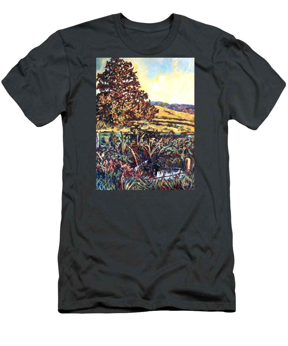 Landscape Men's T-Shirt (Athletic Fit) featuring the painting Near Childress by Kendall Kessler