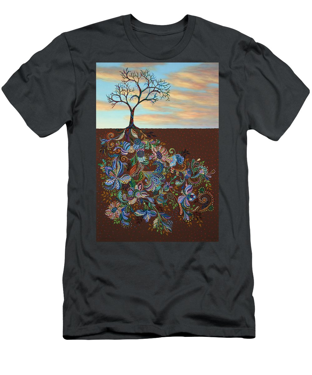 Tree Men's T-Shirt (Athletic Fit) featuring the painting Neither Praise Nor Disgrace by James W Johnson